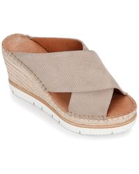 Gentle Souls By Kenneth Cole Elyssa X-band Slide Suede Wedge - Multicolour