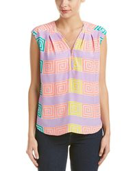 Alice & Trixie Silk Top - Multicolor