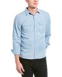 FRAME Denim Chambray Shirt - Blue