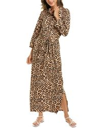 Melissa Masse Brushed Luxe Jersey Maxi Dress - Brown