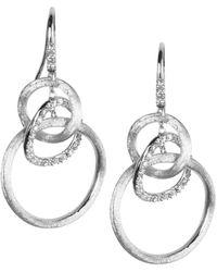 Marco Bicego Jaipur Link 18k 0.39 Ct. Tw. Diamond Circle Drop Earrings - Metallic