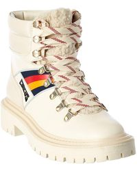 Circus by Sam Edelman Flora 2 Leather Combat Boot - White