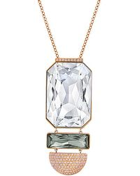 Swarovski - Crystal Plated Stainless Steel Necklace - Lyst
