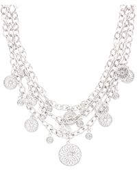 Sparkling Sage - Plated Crystal Link Necklace - Lyst