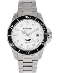 Heritor Lucius Automatic White Dial Mens Watch - Metallic