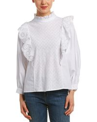 Endless Rose Embroidered Top - White