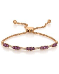 Le Vian ? 14k Strawberry Gold? 1.06 Ct. Tw. Diamond & Amethyst Bracelet - Metallic