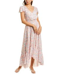 Bobi Flutter Midi Dress - Pink