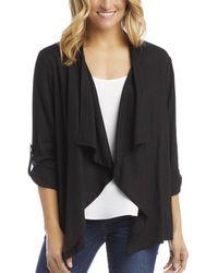 Karen Kane Linen-blend Jacket - Black