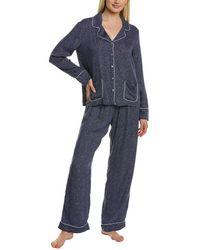 Splendid 2 Pc Pyjama Pant Set - Blue