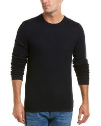 Vince - Double Layer Wool Crewneck Sweater - Lyst