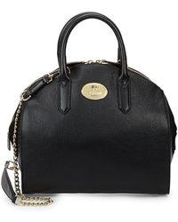 Roberto Cavalli Grainy Leather Tote Bag - Black