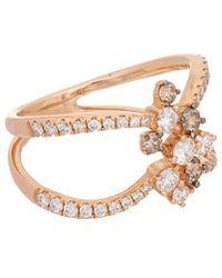 Effy - Fine Jewelry 14k Rose Gold 0.96 Ct. Tw. Diamond Ring - Lyst