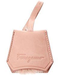 Ferragamo Suede Bag Charm - Pink