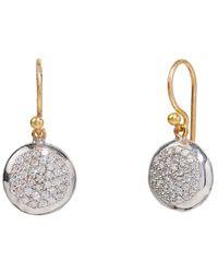 Gurhan Delicate 24k, 22k, & 18k 0.59 Ct. Tw. Diamond Earrings - Metallic