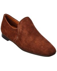 Aquatalia Revy Weatherproof Suede Loafer - Brown