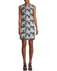 Karl Lagerfeld - Floral Sheath Dress - Lyst