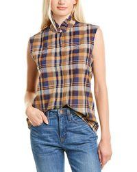 Nili Lotan Feora Linen-blend Shirt - Blue