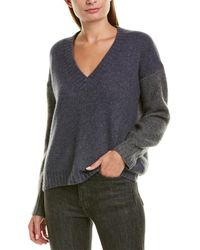 James Perse Boxy Colorblocked Cashmere & Silk-blend Sweater - Gray
