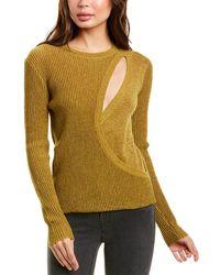 Michelle Mason Asymmetrical Layered Wool-blend Jumper - Metallic