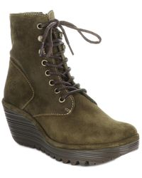 Fly London Ygot Suede Wedge Bootie - Multicolour