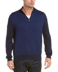 87513553ec4 Cashmere-blend 1/2 Zip Jumper - Blue