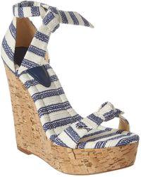 Alexandre Birman Clarita 120 Wedge Sandal - Blue