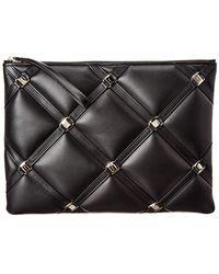 Ferragamo - Gancini Leather Pouch - Lyst