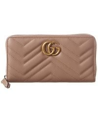 Gucci - GG Marmont Matelasse Leather Zip Around Wallet - Lyst