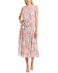 Sandra Darren Tie-waist Midi Dress - Red