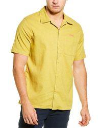 Deus Ex Machina Manila Woven Shirt - Yellow