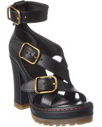 Chloé Daisy Leather Platform Sandal - Black