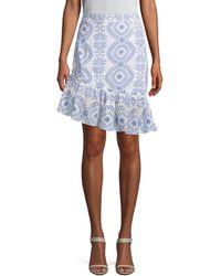 Paul & Joe - Kiouty Printed Asymmetric Skirt - Lyst