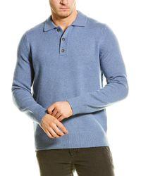 Vince Ribbed Trim Wool & Cashmere-blend Jumper - Blue