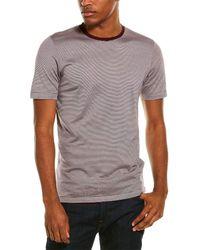 Dunhill Striped Silk-blend T-shirt - Red