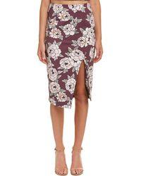 Talulah Lust Floral Midi Skirt - Purple