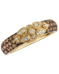 Le Vian ? 14k 0.73 Ct. Tw. White & Chocolate Diamond Ring - Multicolor