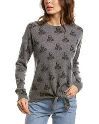 Skull Cashmere Kourtney Cashmere Sweater - Gray