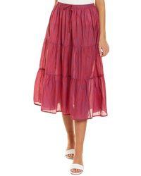 Velvet By Graham & Spencer Dina Midi Skirt - Red