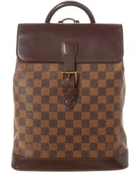 Louis Vuitton Damier Ebene Canvas Soho - Brown