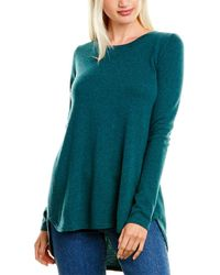 Forte Pleat Back Cashmere Tunic - Green