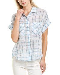 Bella Dahl Rolled Button-down Shirt - Blue