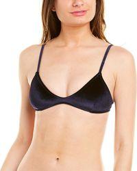 Suboo Velvet Bralette Bikini Top - Blue