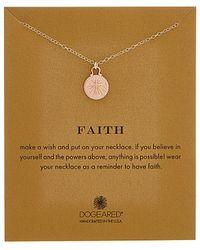 Dogeared - Faith 14k Over Silver Necklace - Lyst