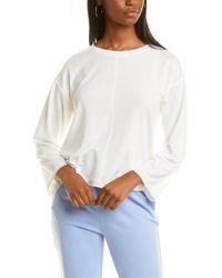 Jones New York Dropped-shoulder Sweatshirt - White