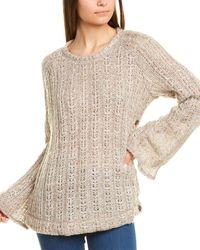 Three Dots Side Button Wool-blend Jumper - Brown