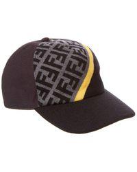 Fendi Wool Baseball Hat - Black
