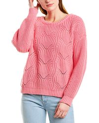 525 America Pointelle Pullover - Pink