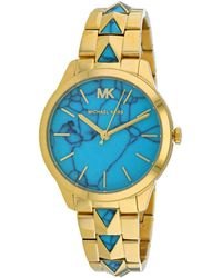 Michael Kors Women's Runaway Mercer Watch - Blue