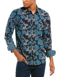 Robert Graham Laws Classic Fit Woven Shirt - Black